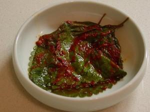 kkaennip kimchi (perilla or sesame leaf)